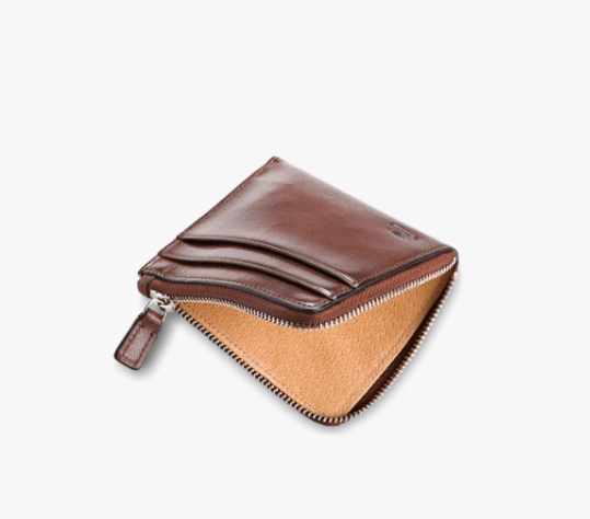 Il Bussetto Zip Wallet - Dark Brown