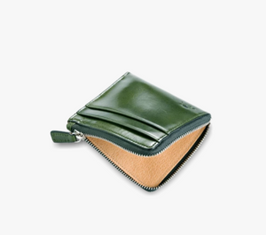 Il Bussetto Zip Wallet - Moss Green