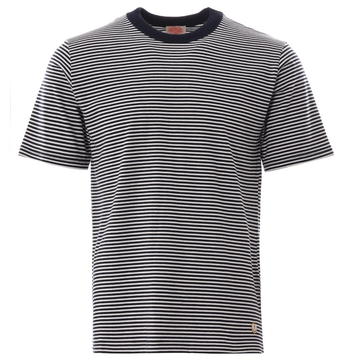 Armor-Lux Heritage Stripe T-Shirt - Rich Navy/Milk