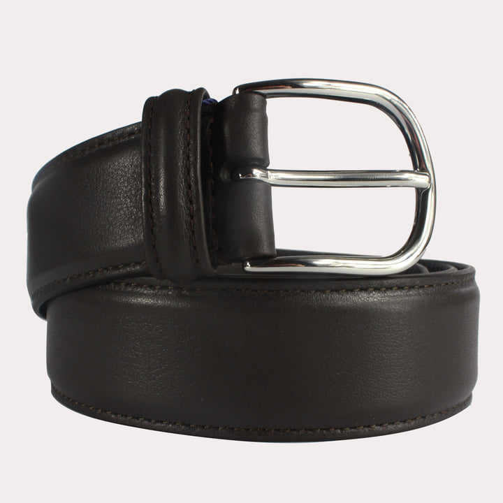 Andersons Leather Belt - Dark Brown Smooth