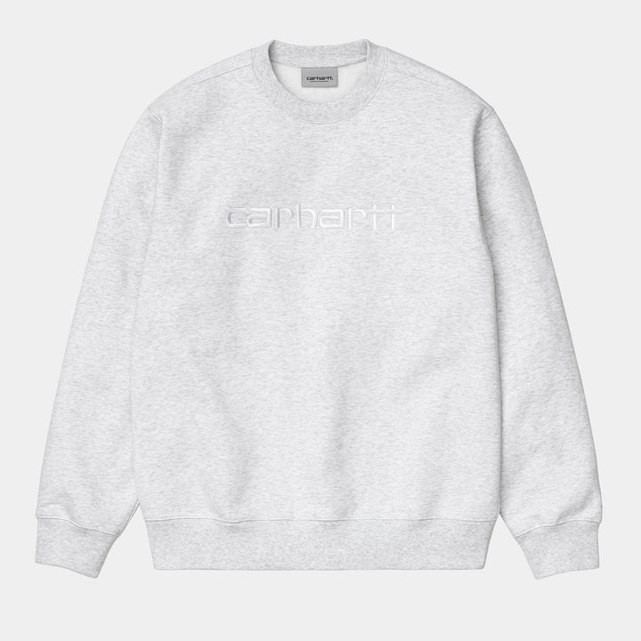 Carhartt Sweatshirt - Ash Heather/White