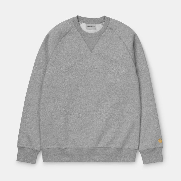 Carhartt Chase Sweat - Grey Heather/Gold
