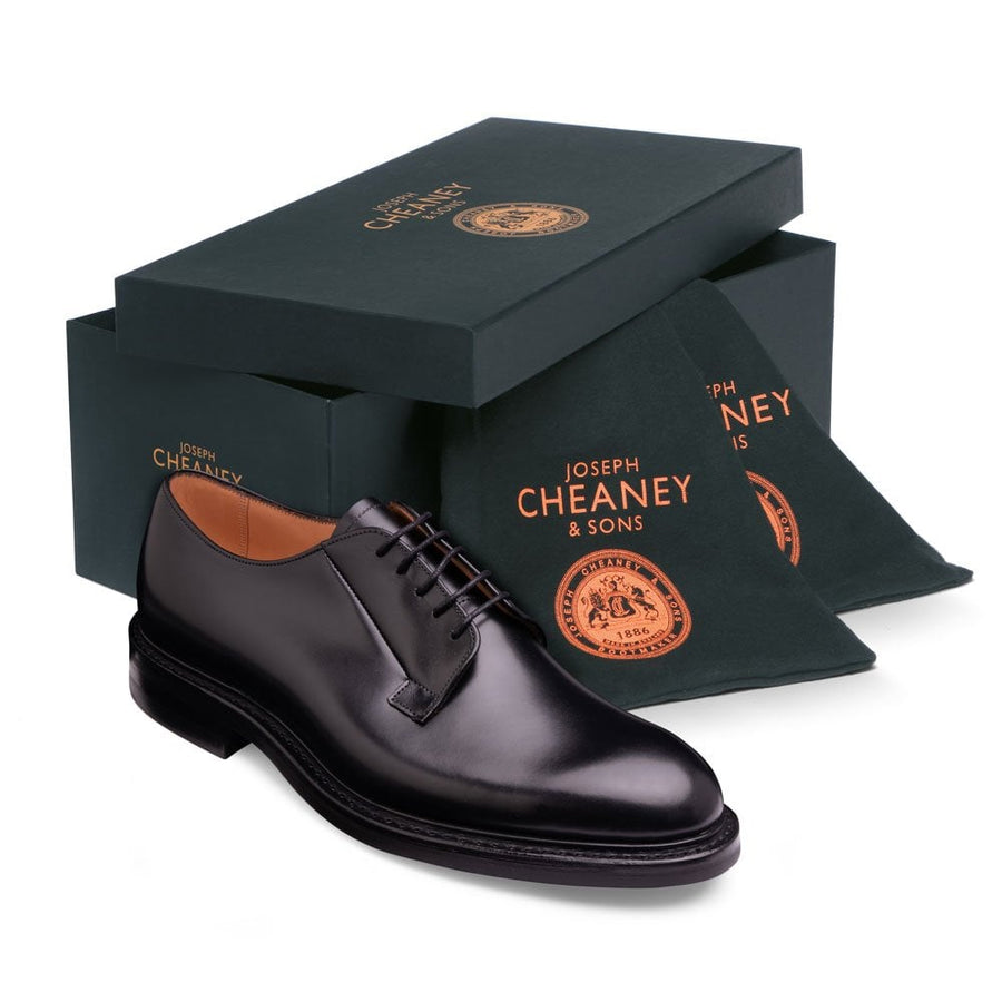 Joseph Cheaney & Sons Deal II R Derby Shoe - Black Calf Leather