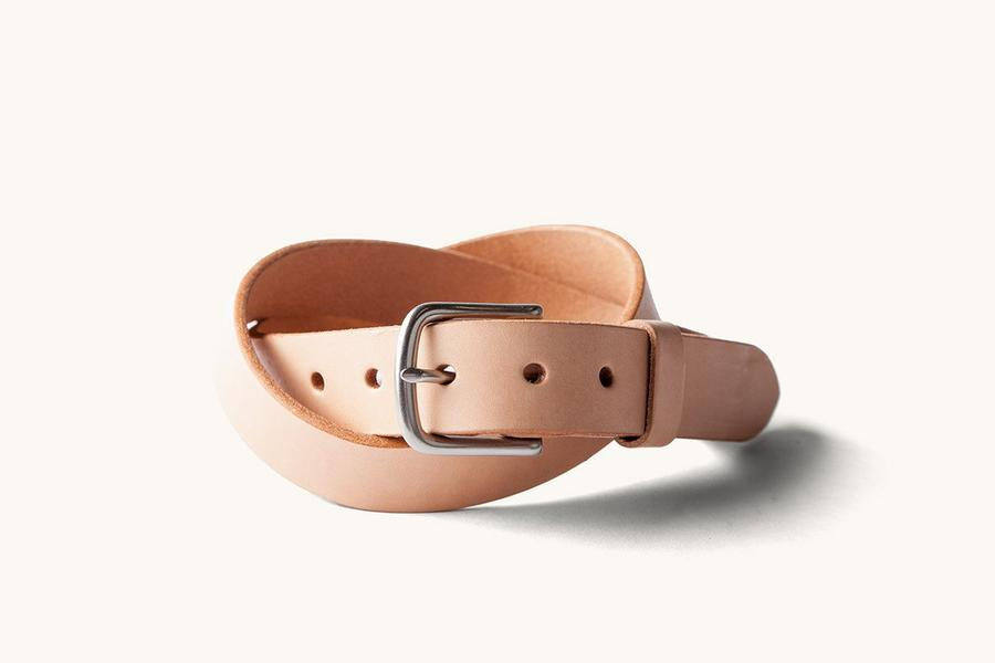 Tanner Goods Classic Belt - Natural/Brushed Steel