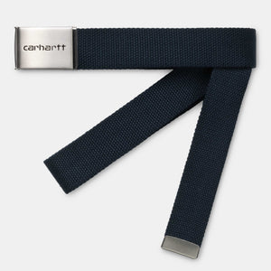 Carhartt Clip Belt Chrome - Dark Navy