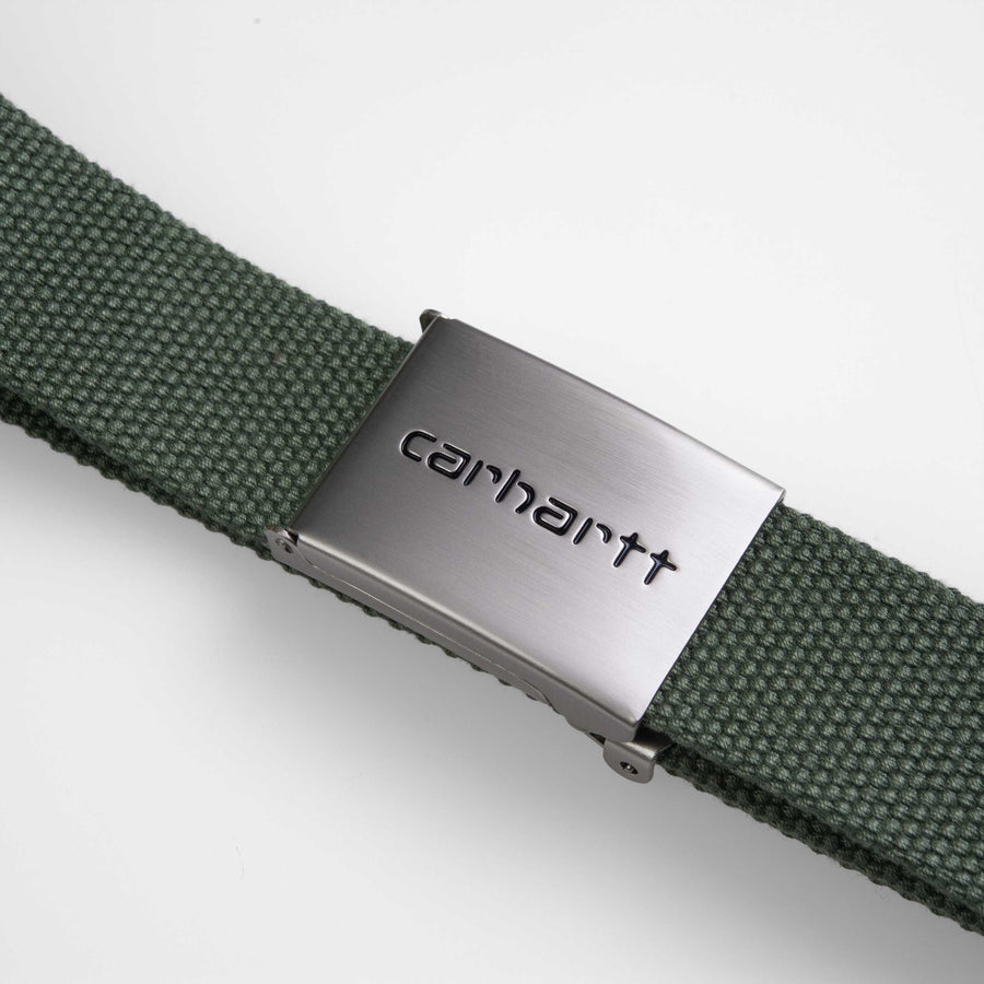 Carhartt Clip Belt Chrome - Dollar Green