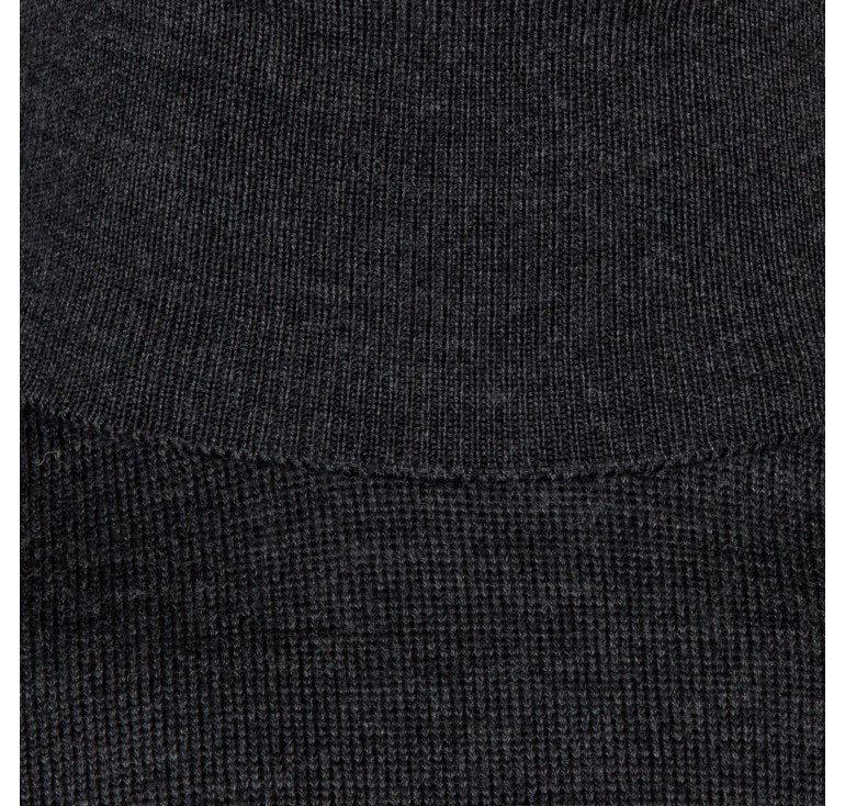 John Smedley Connell Roll Neck Pullover - Charcoal