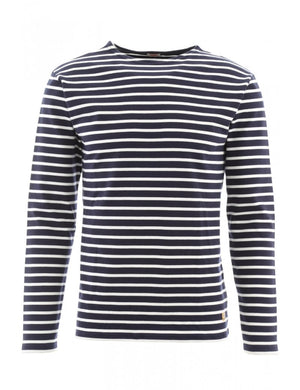 Armor-Lux Long Sleeve Striped Top Navy/Natural