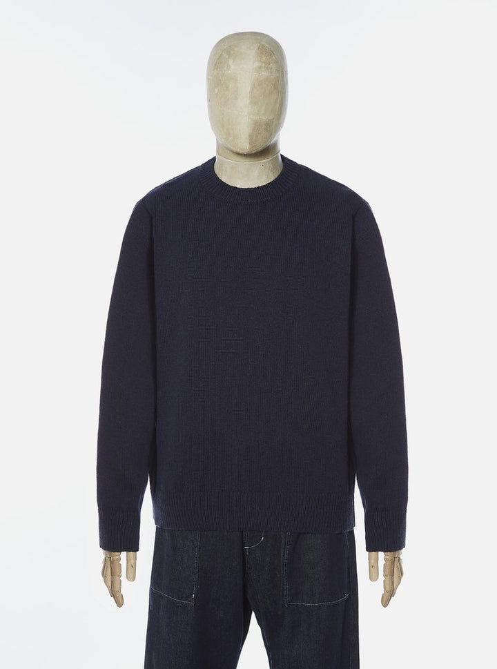 Universal Works Loose Crew Sweater - Navy