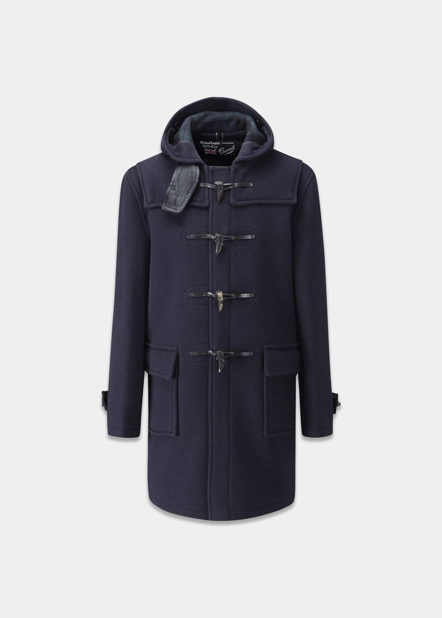 Gloverall Morris Duffle Coat - Navy Black Watch