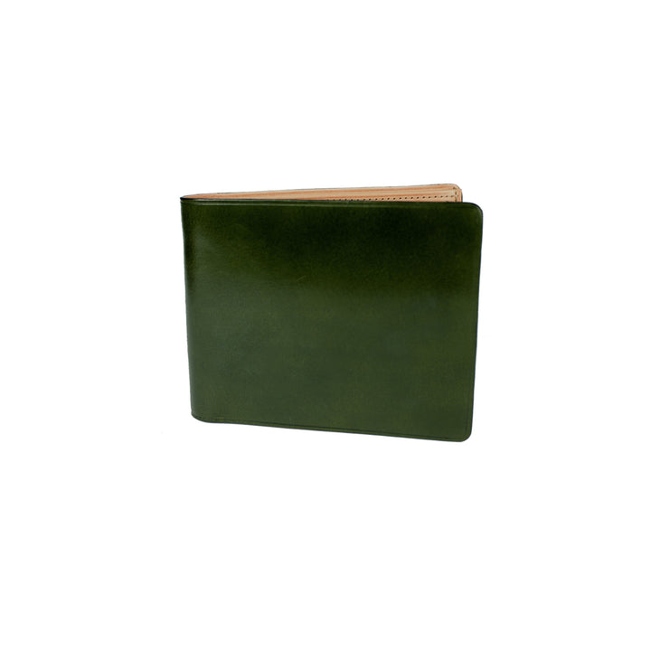 Il Bussetto Bi-Fold Wallet with Coin Pocket - Moss