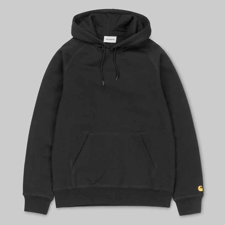 Carhartt Chase Hooded Sweatshirt - Black/Gold