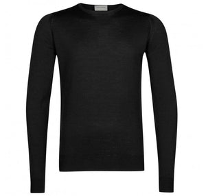 John Smedley Lundy Pullover Crew Neck Long Sleeve - Black
