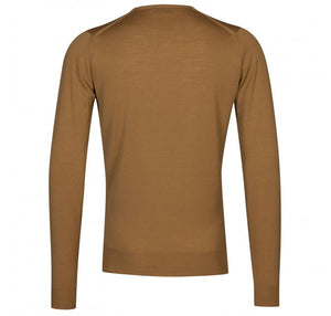 John Smedley Lundy Pullover Crew Neck Long Sleeve - Camel