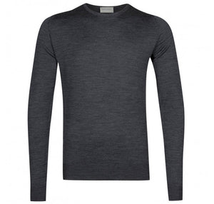John Smedley Lundy Pullover Crew Neck Long Sleeve - Charcoal