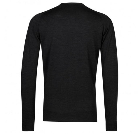 John Smedley Lundy Pullover Crew Neck Long Sleeve - Hepburn Smoke