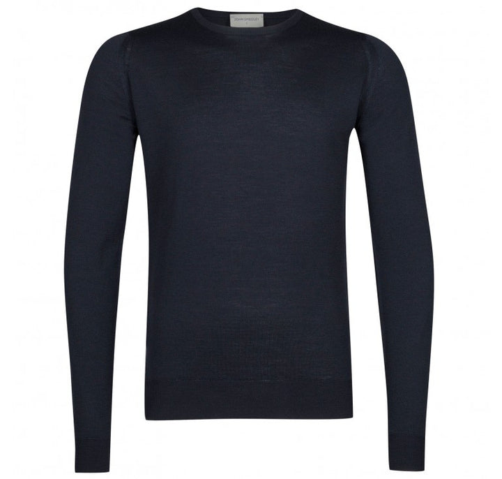 John Smedley Lundy Pullover Crew Neck Long Sleeve - Midnight