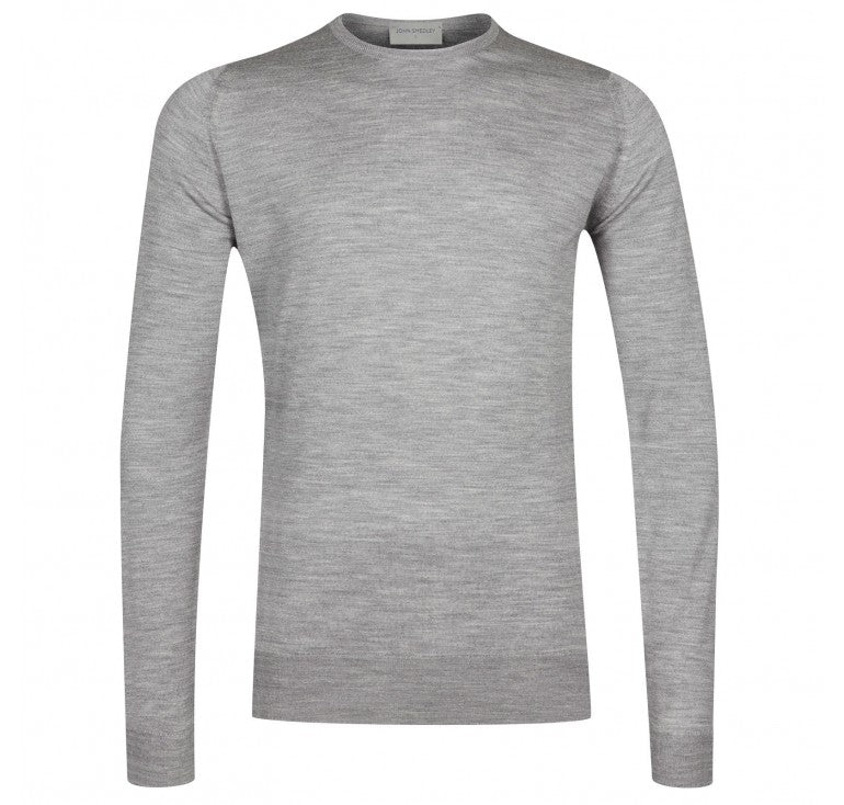 John Smedley Lundy Pullover Crew Neck Long Sleeve - Silver