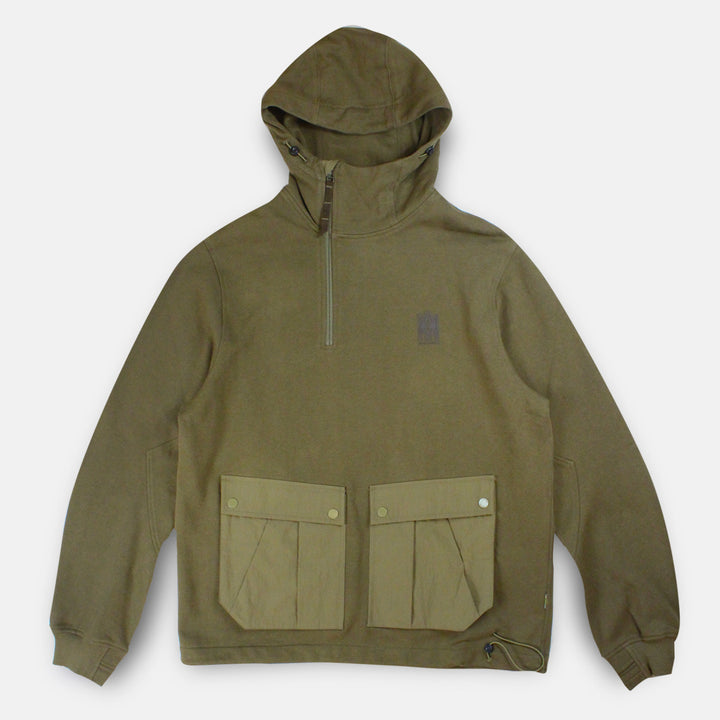 Maharishi Tech Organic Hooded Sweat - Maha Olive