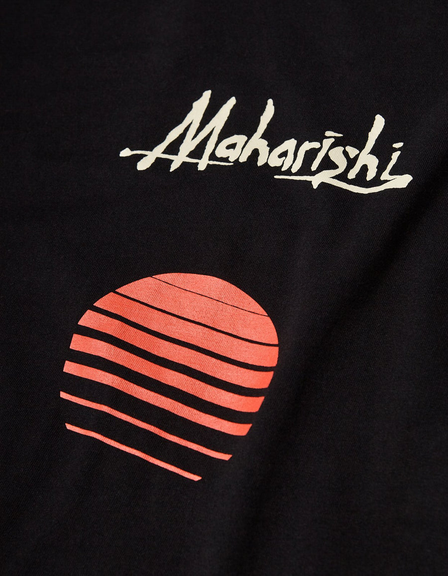 Maharishi Sunset Print T-Shirt - Black