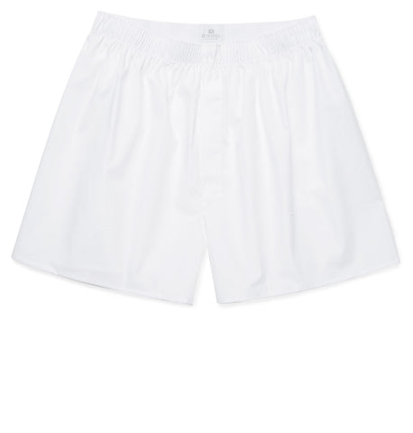Sunspel Classic Cotton Boxer Shorts - White