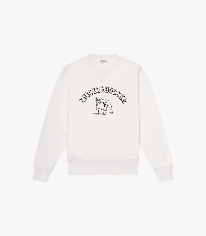 Knickerbocker Varsity Gym Crew Sweatshirt - Milk