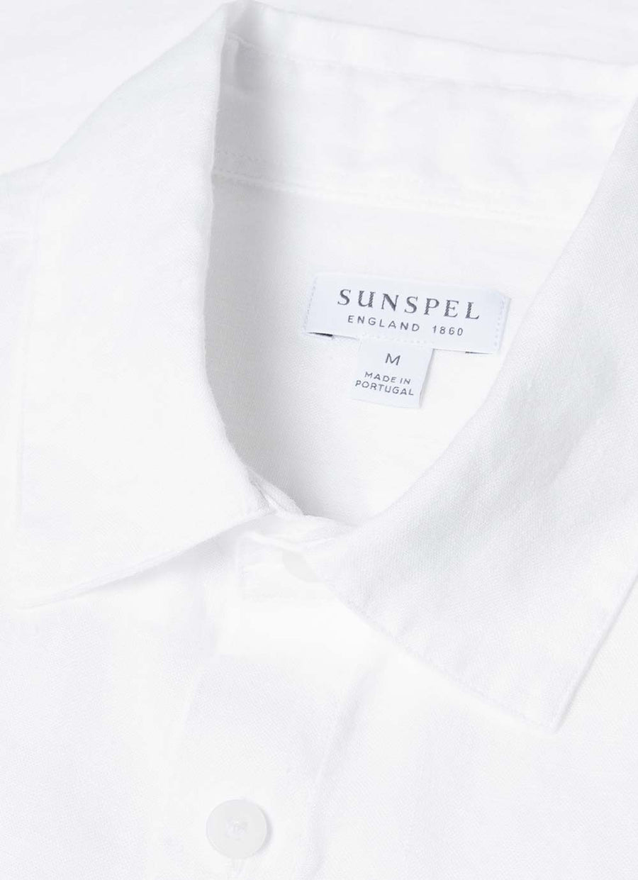 Sunspel Long Sleeve Shirt - White