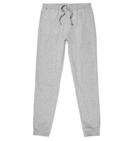Sunspel Track Pant - Grey  Melange