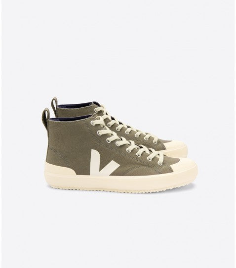 Veja Nova High Top Canvas Trainer - Khaki, Butter Sole