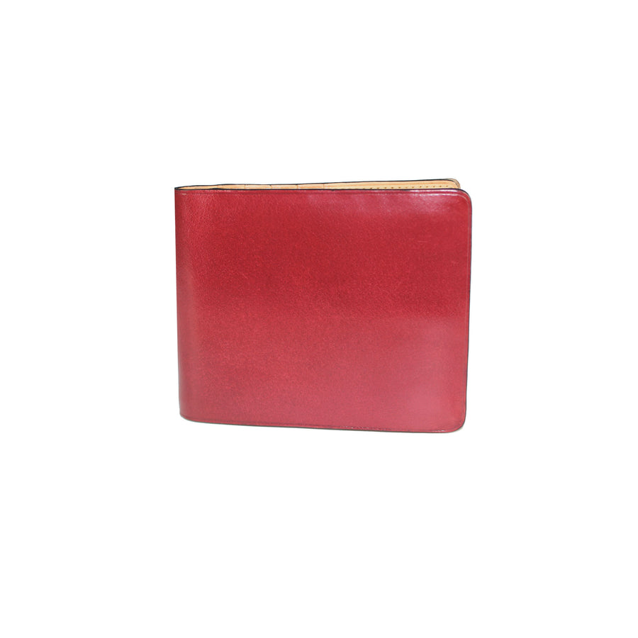 Il Bussetto Button Bi-Fold Wallet - Scarlet