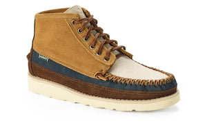 Sebago Cayuga Mid Boot - Tan/Papyrus/Dark Blue