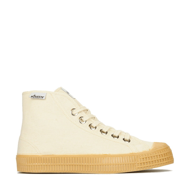 Novesta Star Dribble Hi-Top Plimsoll - 99 Beige/003 Transparent