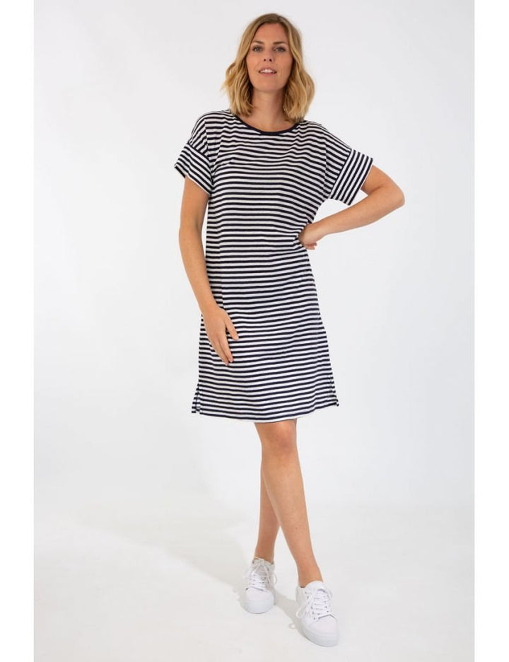 Armor-Lux Stripe Dress - Navy/White