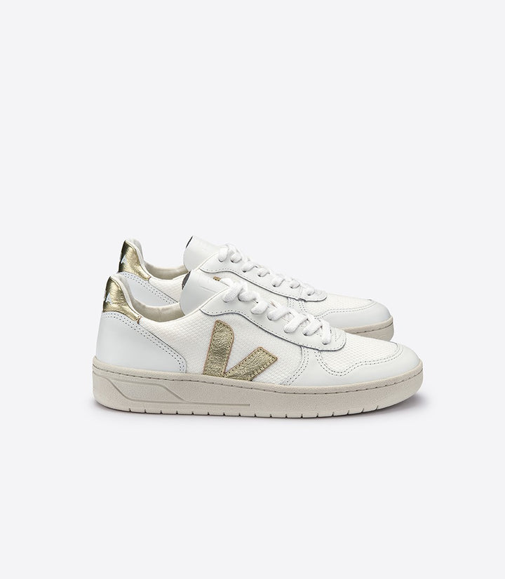 Veja Women V-10 B-Mesh Trainer - White/Gold
