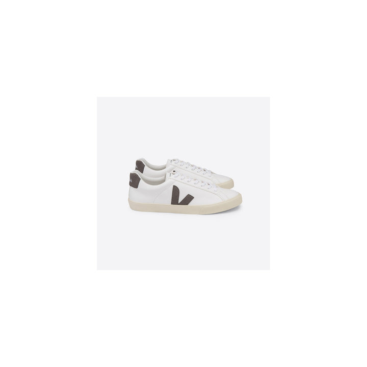 Veja Esplar Trainers - Logo Easy Chromefree Leather - Extra White, Khaki, Butter Sole