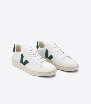 Veja V-12 Trainers - Leather Extra White/Cyprus