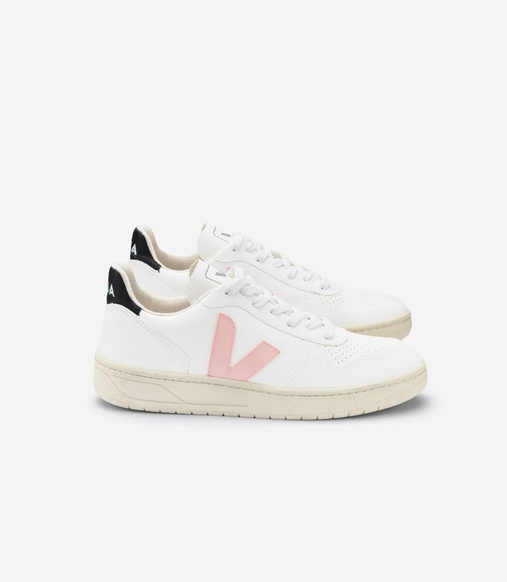 Veja Women V-10 CWL Trainers - White/Petale/Black