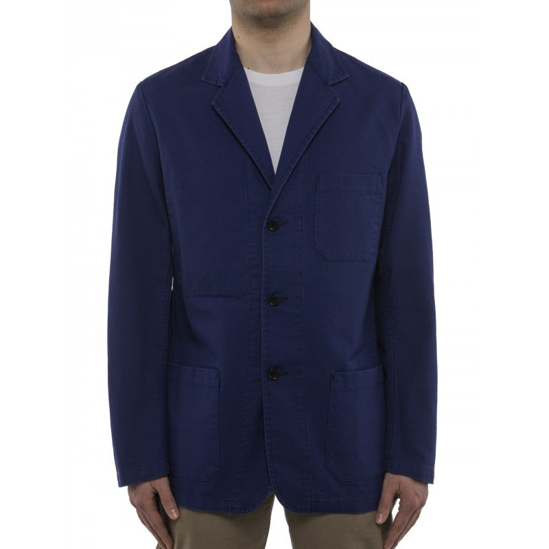 Vetra Navy Cotton Blazer
