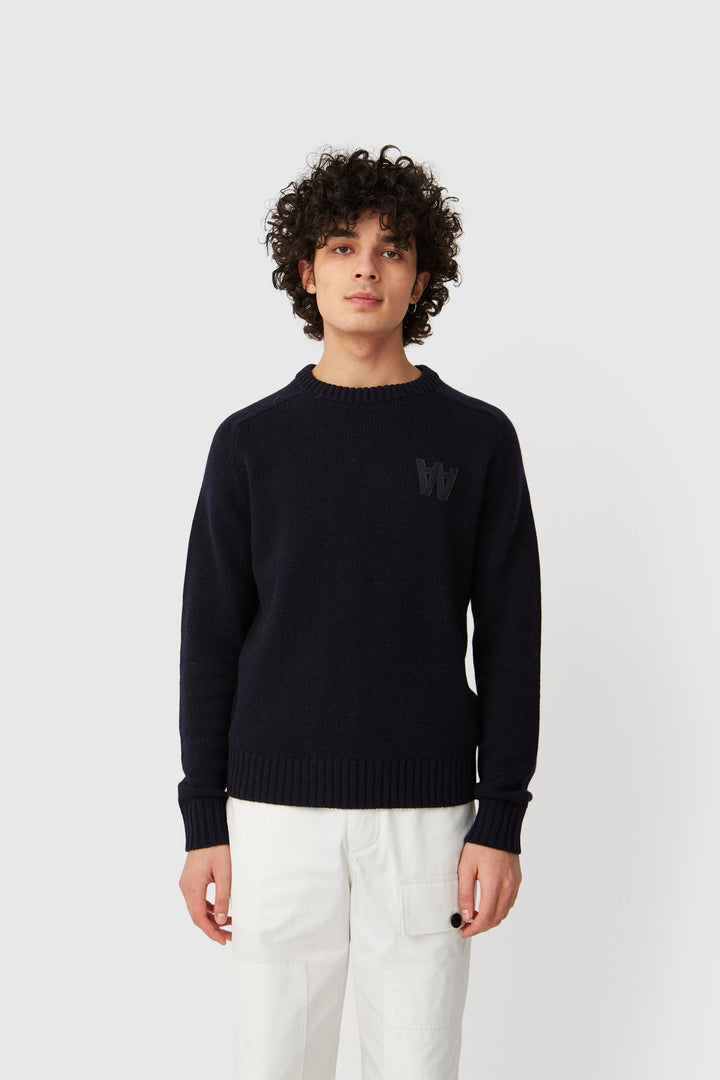 WoodWood Kevin Jumper - Navy