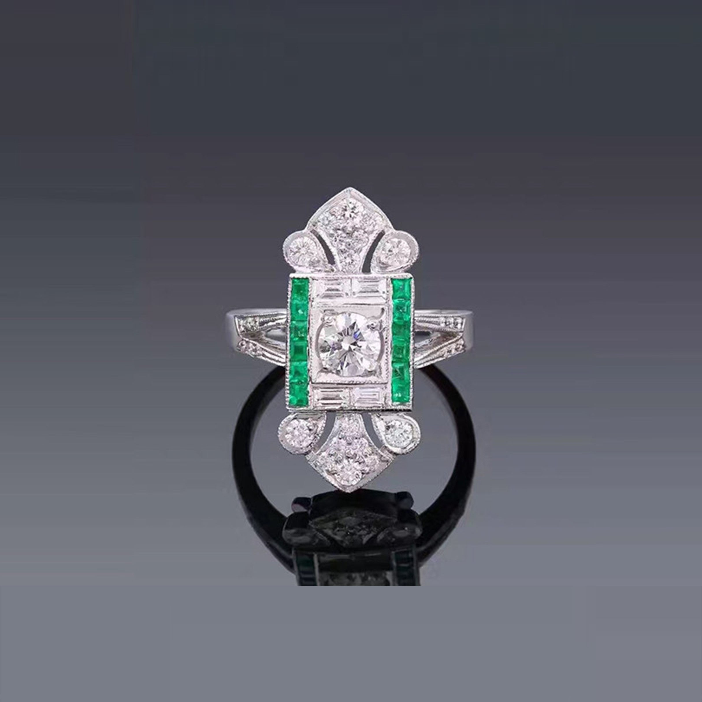 ring unique design diamond with vintage products carat stacking