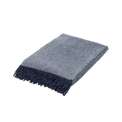 Merino Wool Blanket with Tassels (plain)