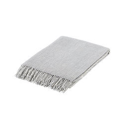 Merino Wool Blanket with Tassels (Waffle Sweet Chic)