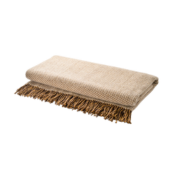Merino Wool Blanket with Tassels (Scandinavian blend)