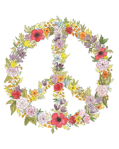 "Floral ""Peace"" sign"