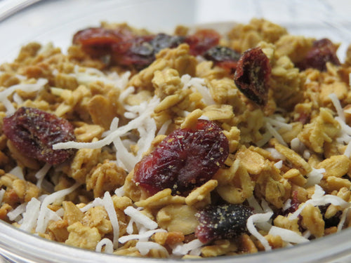 Strawberry-Cranberry Coconut Granola