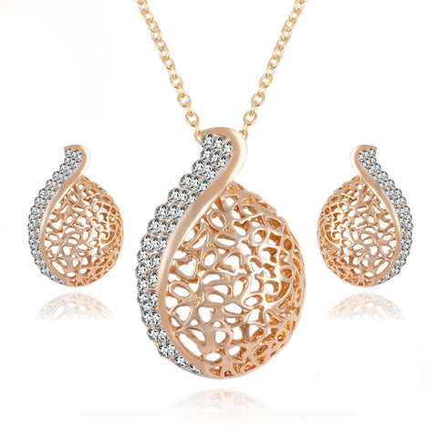 Austrian Crystal Chain Jewelry Set
