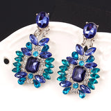 Crystal Multi-Cut Drop Earrings
