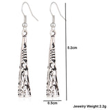 Spike Tassel Drop Earrings