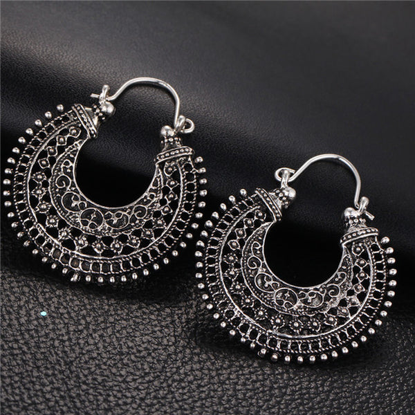Tibetan Silver Hoop Earrings
