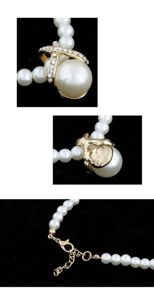Imitation Pearl Pendant Necklace